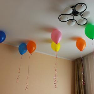 Это конечно не все количество шаров :) их было больше :)