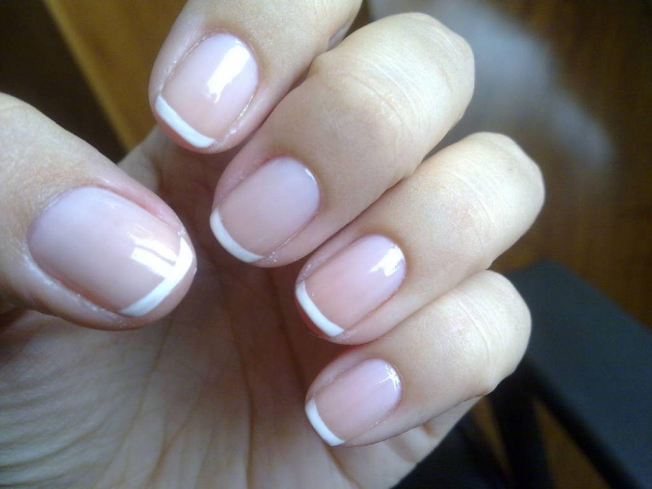 Французский маникюр короткие ногти фото