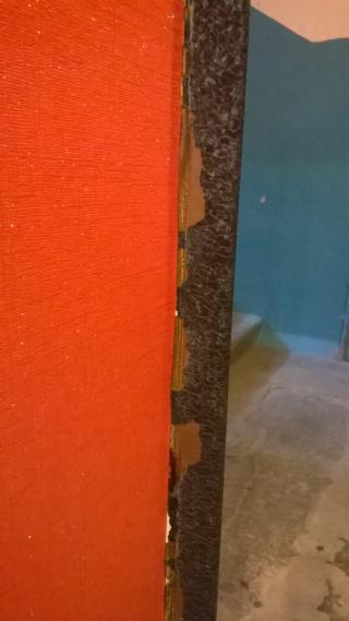 Облупившаяся краска через 1,5 месяца. Салон Двернов в ТЦ Новая Эра г.Нижний Новгород