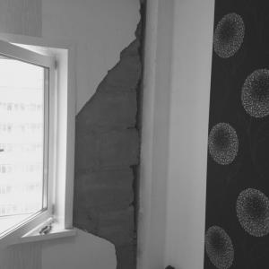 Светлогорская 11а Пустоты в стенах, которые приводят к их промерзанию и появлению грибка