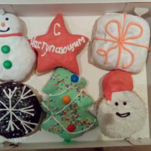 Новогодние пончики!!!