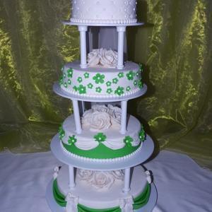 Вот такой чудесный торт нам приготовили!