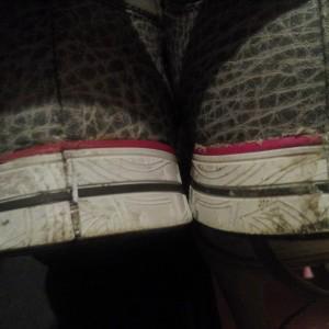 Это кроссовки после ремонта.