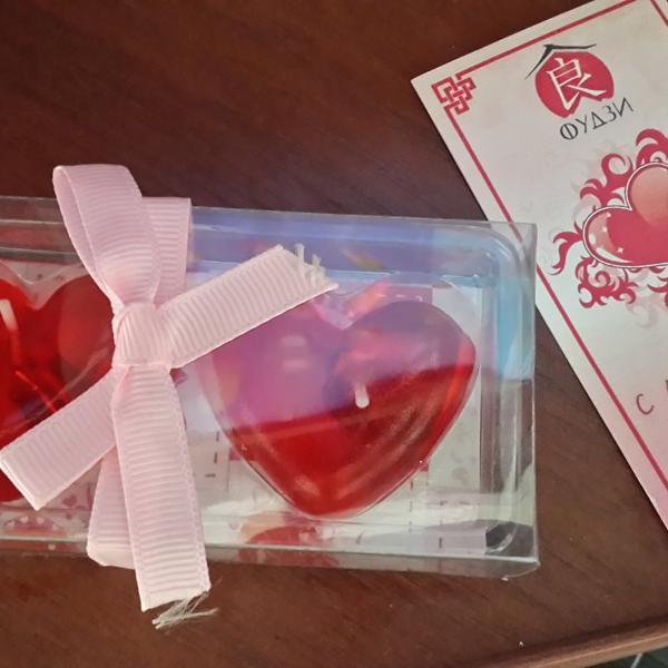 Подарок  в виде сердечек!!!