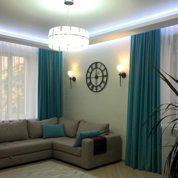 Заказать современные шторы для зала