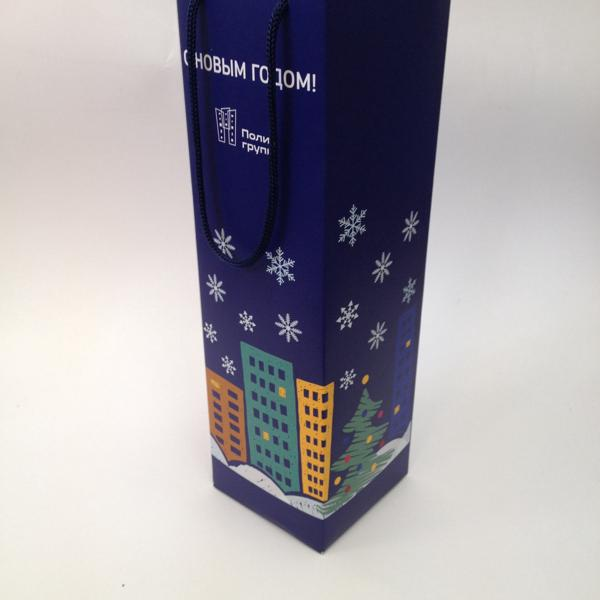 Коробка под бутылку к Новому году