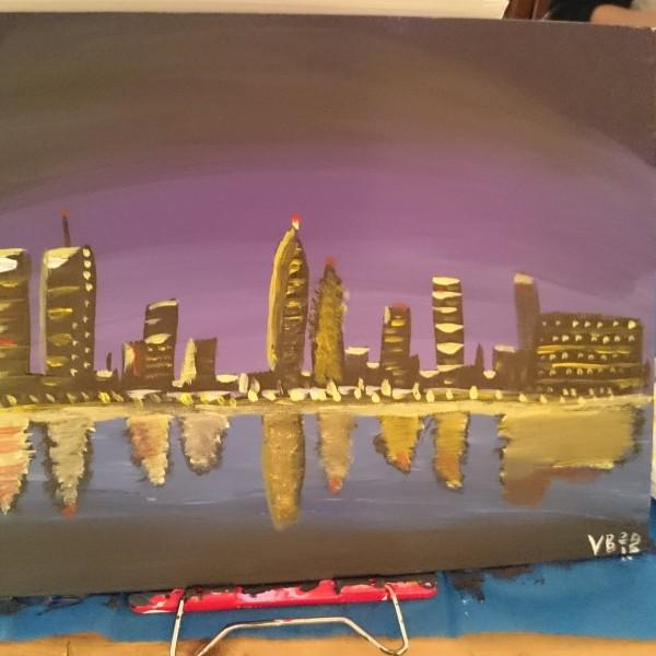 Ночной Нью-Йорк: жена, занимающаяся живописью, сказала, что получилось отлично.