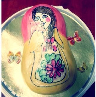 Клиент Ольга испекла нам красивый и вкусный тортик! Спасибо Вам большое!