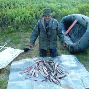 летняя рыбалка в Воркуте; на ручье Шогля-шор