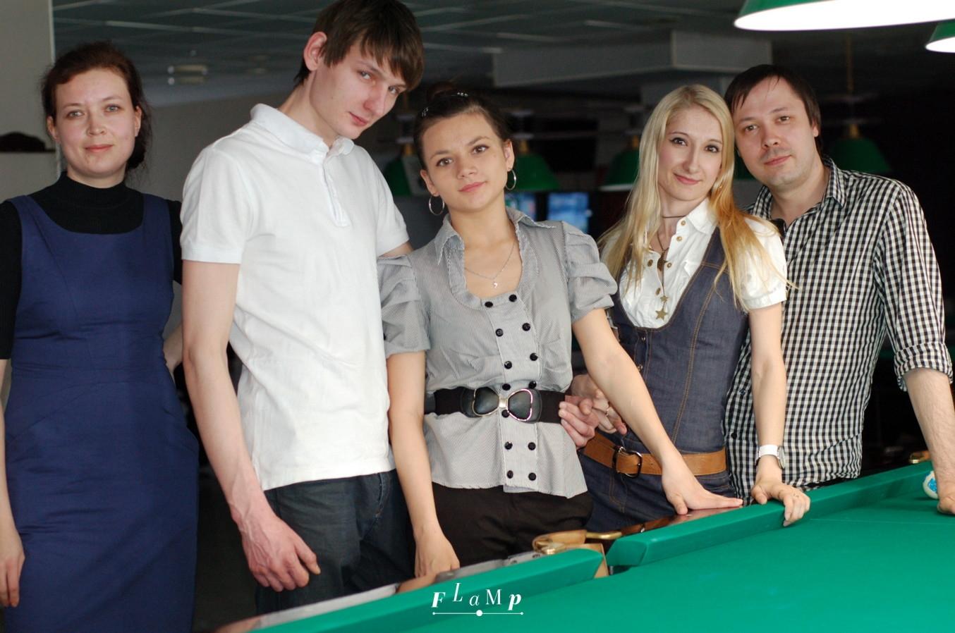 Слева направо: Елена, Илья, Людмила, Ольга, Александр