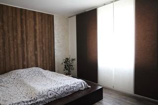 Японские шторы в спальню, из натуральных тростниковых тканей