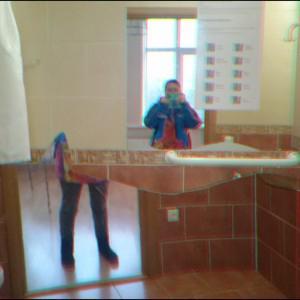 Вот такое вот интересное зеркало, которое делит тебя на две части (;