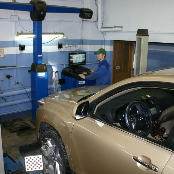 Развал-схождение колёс на 3D стенде ТехноВектор