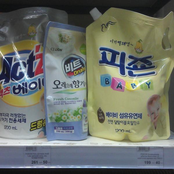 Корейские гели для стирки