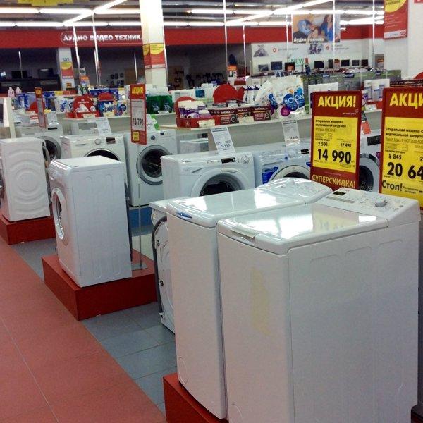Вот то злополучное место, где мы до сих пор выбираем стиралку, и где нас обхамил сотрудник М.Видео