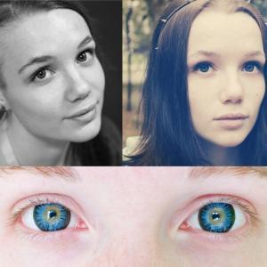 1, 2 фото - Eye Free Colors - Blue 3 фото -  Eye Free Colors - Aqua
