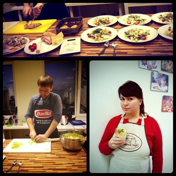 Наш гид в мире кулинарии и Инесса со своим тирамису:)
