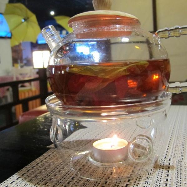 Малиновый чай с мятой и подогревом