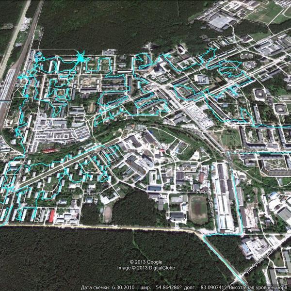 Пример GPS-трека