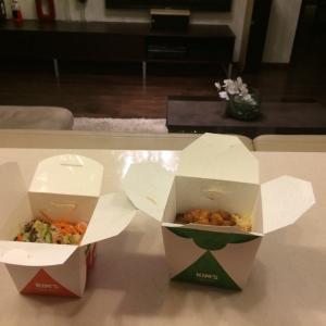 Генеральская курица с домашним салатом