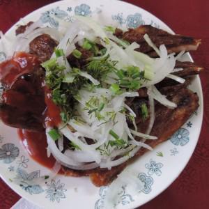 Очень,очень  вкусный антрекот из баранины!!!