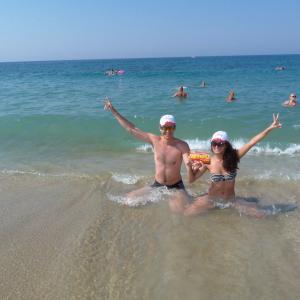 Турция, 2014, пляж рядом с отелем Клеопатра