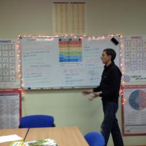 Открытый урок в языковой школе Интерстади. Преподаватель Джон