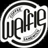 Coffee. Waffle. Sandwich