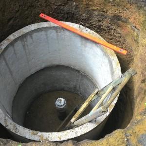 В процессе строительства колодца
