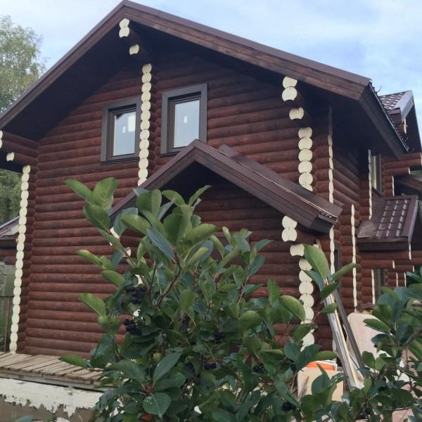 Гостевой дом из оцилиндрованного бревна - май 2015 - с.Мочище