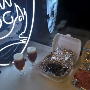 Джерки из говядины и овощные чипсы + пиво от Jaws = созданы друг для друга!