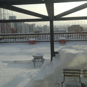 Каток на балконе кафе. 6 этаж ТК на московской горке