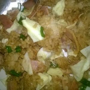 отличный рис с беконом