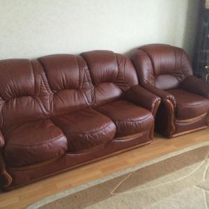 все домашние счастливы у нас теперь новая кожаная мебель