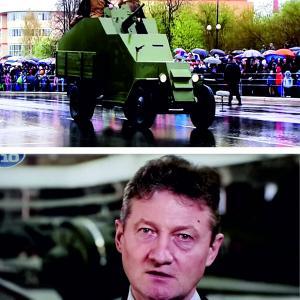 """Фото сделано с экрана телевизора. ТВ """"10 Канал"""". На нижнем фото - Андрей Козицын, гендиректор УГМК."""