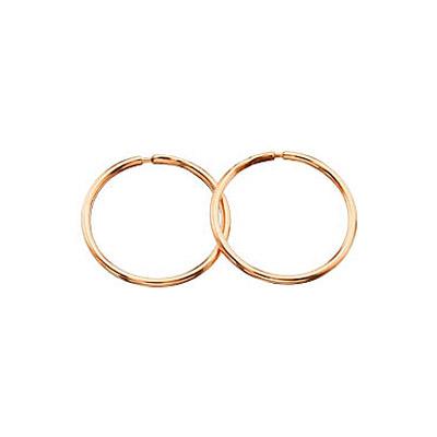 золотые сережки круглые фото