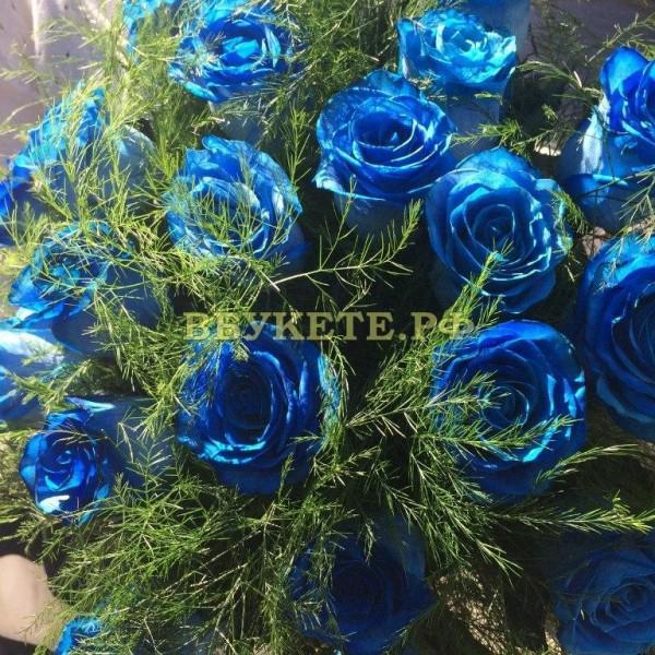 Синие розы.