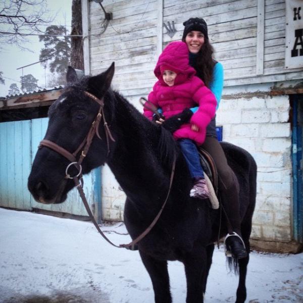 Я с племянницей на Калейдоскопе