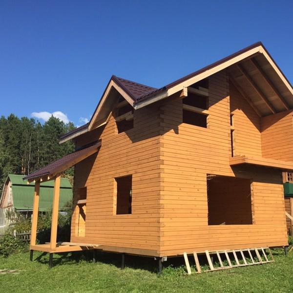 Дом из профилированного бруса - июнь 2015 - Матвеевка, СНТ Отдых-1