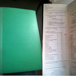 Папка с информацией в номере и анкета.