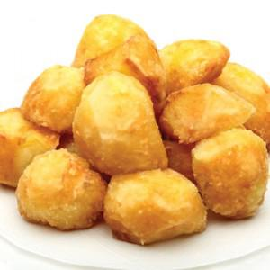 Вот и картофель. Только, конечно же, у меня порция была гораздо меньше.