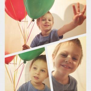 Мой Ромка с шариками