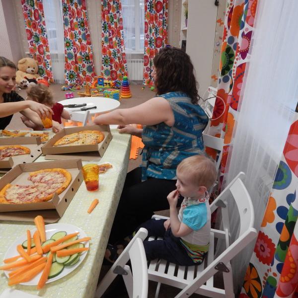 Пицца понравилась всем - и взрослым и деткам!