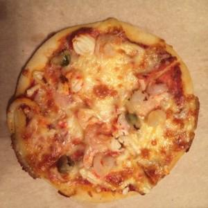 "моя самая любимая пицца ""Дары моря"" размера мини"