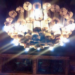 Светильник из книг в Бар ДК