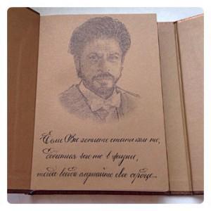блокнот Paperblanks Эпоха (midi), портрет и цитата Шах Рукх Кхана,  автограф Шах Рукх Кхана)))