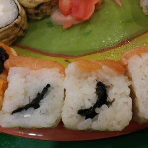 никогда таких суши не ела и больше надеюсь не откушать..