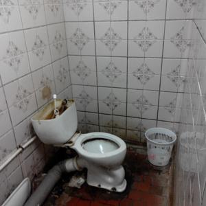 Вода бежит без остановки,вокруг жуткая плесень, на стенах, явно там вообще не убирают!!!
