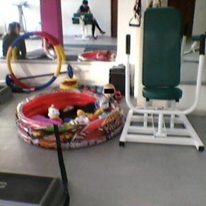 детский манеж в спортзале