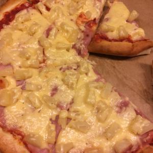Пицца Гавайская (на американском тесте)
